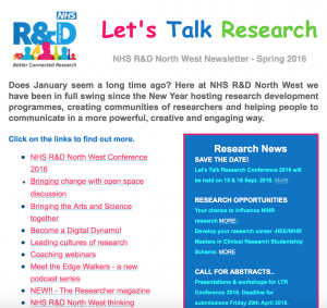 Lets Talk Research Newsletter Spring 2016